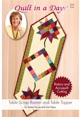 ELEANOR BURNS: Table Top Scrap Table Runner/Topper Pattern