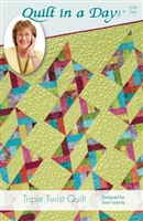 Triple Twist Quilt Pattern from Quilt In A Day