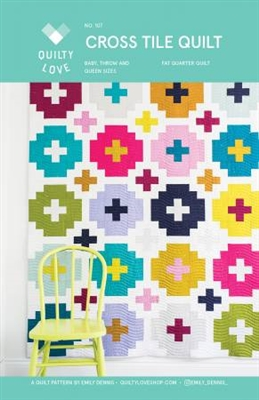 Cross Tile Quilt Pattern by Quilty Love