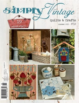 Quiltmania Magazine SIMPLY VINTAGE Summer 2015