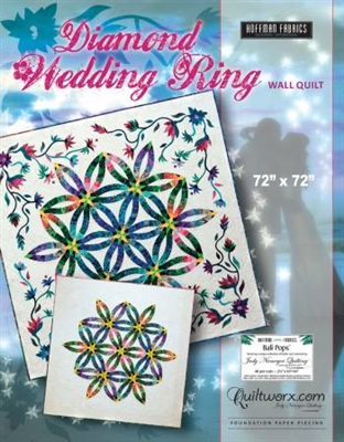 Diamond Wedding Ring  Foundation Paper Pieced Quilt Pattern by Judy Niemeyer Quiltworx