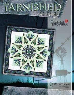 Tarnished Windmill Foundation Paper Pieced Quilt Pattern by Judy Niemeyer Quiltworx