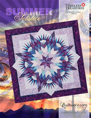 SUMMER SOLSTICE  Foundation Paper Pieced  Quilt Pattern by Judy Niemeyer Quiltworx