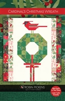 Cardinals Christmas Wreath Quilt Pattern by Robin Pickens