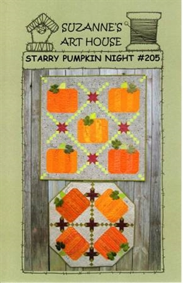 Starry Pumpkin Night Quilt and Table Topper Pattern