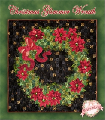 Christmas Glimmer Wreath Quilt Pattern by Shabby Fabrics