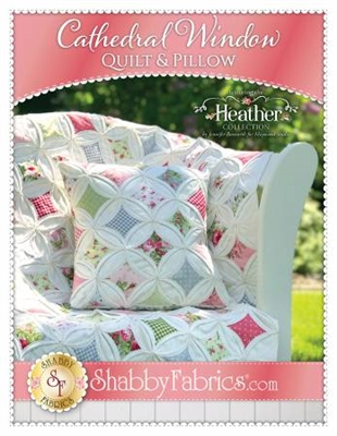 Heather Cathedral Window Quilt & Pillow Pattern by Shabby Fabrics