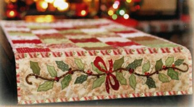 Holly & Berries Table Runner Quilt Pattern by Shabby Fabrics