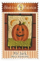 Mr. Jack Pumpkin Wall Hanging Quilt Pattern from Shabby Fabrics