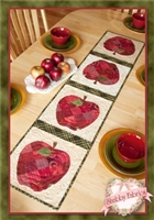 Patchwork Apple Table Runner Quilt Pattern by Shabby Fabrics