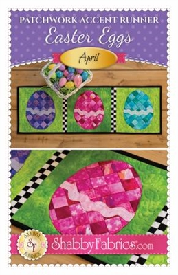 Patchwork Accents Table Runner April Easter Eggs by Shabby Fabrics