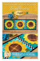 Patchwork Accents Table Runner August Sunflowers by Shabby Fabrics