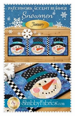 Patchwork Accents Table Runner January Snowman by Shabby Fabrics