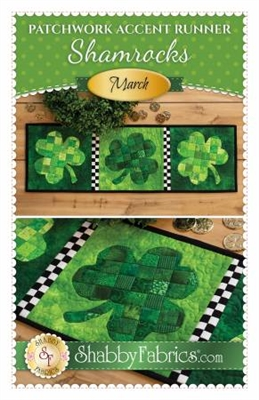Patchwork Accents Table Runner March shamrocks by Shabby Fabrics