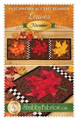 Patchwork Accents Table Runner November Autumn Leaves by Shabby Fabrics