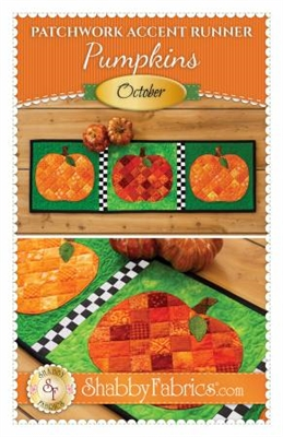 Patchwork Accents Table Runner October Pumpkins by Shabby Fabrics