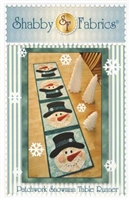 Snowman Table Runner Quilt Pattern by Shabby Fabrics