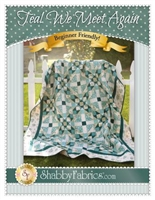 Teal We Meet Again Quilt Pattern by Shabby Fabrics