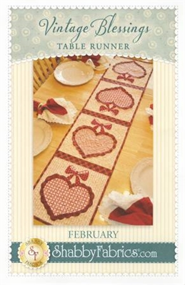 Vintage Blessings February Table Runner Pattern by Shabby Fabrics