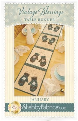 Vintage Blessings January Table Runner Pattern by Shabby Fabrics