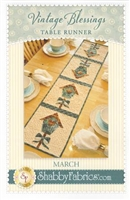 Vintage Blessings March Table Runner Pattern by Shabby Fabrics
