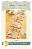 Vintage Blessings May Table Runner Pattern by Shabby Fabrics