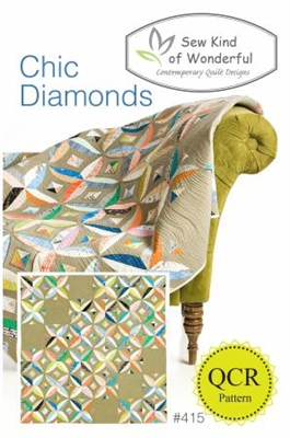 Sew Kind of Wonderful Chic Diamonds Quilt Pattern