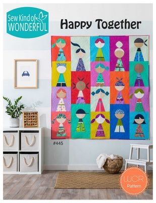 Sew Kind of Wonderful  Happy Together Quilt Pattern Quilt Pattern