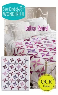 Lattice Revival Quilt Pattern from Sew Kind of Wonderful