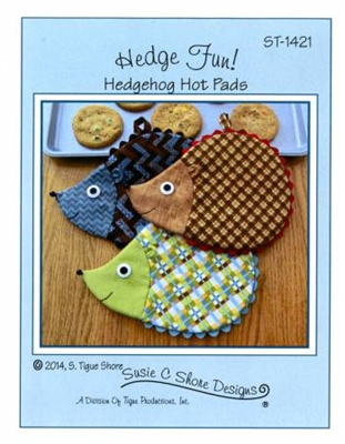 Hedge Hog Hot Pads Pattern from Susie Shore