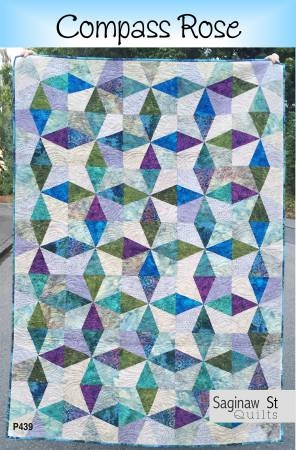 Compass Rose Quilt Pattern From Saginaw St Quilt Co Best Rose Quilt Pattern