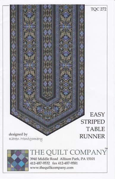 Easy Border Stripe Table Runner Quilt Pattern By Karen