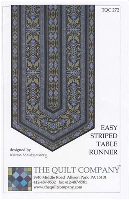Easy Striped Table Runner Pattern by The Quilt Company