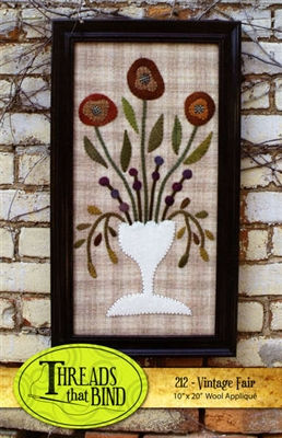Vintage Fair Wool Applique Pattern