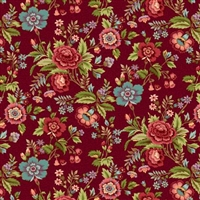 Tarrytown Chintz red by MIchelle Yeo