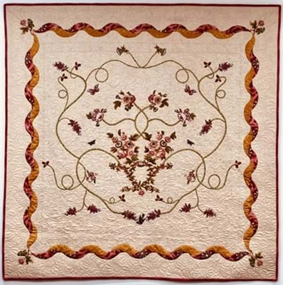 Tarrytown Chintz Cream Quilt Top Kit  by MIchelle Yeo