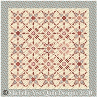 Hillensberg Quilt Top Kit-Blue Set by MIchelle Yeo