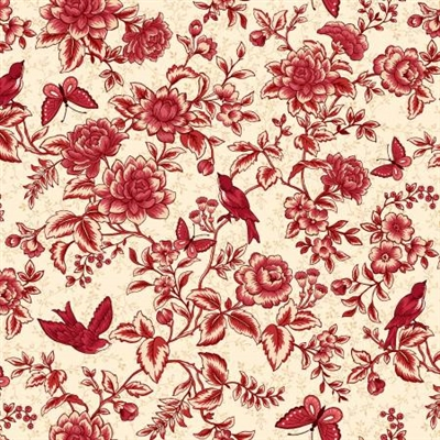 Tarrytown Toile Cream-Red by MIchelle Yeo