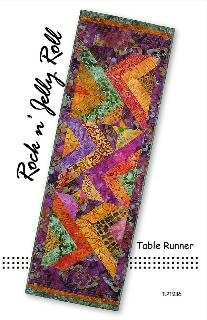 Rockin Jelly Roll Runner Quilt Pattern by Tiger Lily Press