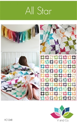 All stars Quilt Pattern by V and Co