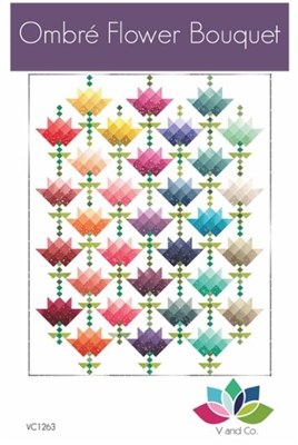 Ombre Flower Bouquet Quilt Pattern by V and Co