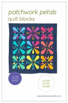 Patchwork Petals Quilt Blocks Pattern by Whole Circle Studios