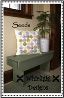 Seeds Pillow Pattern by Whirligig Designs
