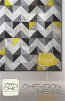 Chevron News Quilt Pattern by Zen Chic
