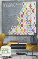 Diamonds & Grey Quilt Pattern by Zen Chic