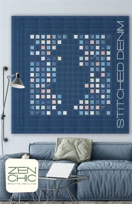 STITCHED DENIM Quilt Pattern by Zen Chic